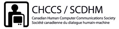 Canadian Human-Computer Communications Society (CHCCS) / Société canadienne du dialogue humain-machine Canadian Human Computer Communications Society / Société canadienne du dialogue humain-machine